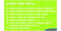 Post archive tabs pro