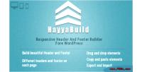 Responsive hayyabuild header builder footer and