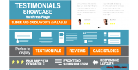 Showcase testimonials wordpress plugin
