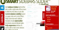 Sidebars smart slider