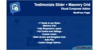 Slider testimonials masonry addon grid composer visual