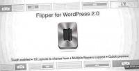 Wordpress flipper 2.0 flipbook slider style