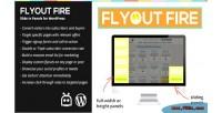 Flyout fire slide in wordpress for panels
