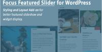 Focus wordpress featured slider on add styling