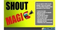 Magic shout notices slider