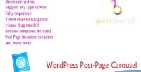 Post wordpress page carousel