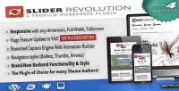 Revolution slider plugin wordpress responsive