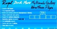Royal dock menu multimedia plugin wordpress slider