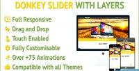 Slider donkey responsive layers with slider