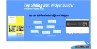 Sliding top bar builder widgets wordpress