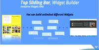 Sliding top bar builder widgets wordpress