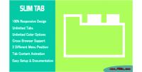 Tab slim tabs wordpress responsive