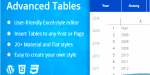 Tables advanced excel editor table style