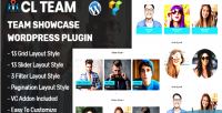 Team cl team plugin wordpress showcase