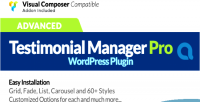 Testimonials advanced manager plugin wordpress pro