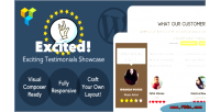 Testimonials excited wordpress for showcase