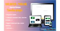 Timeline unlimited plugin wordpress responsive