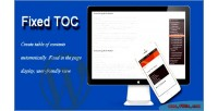Toc fixed wordpress plugin