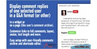 User s comments with widget & archive user