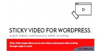 Video sticky for wordpress