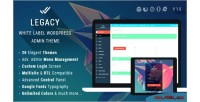 White legacy label theme admin wordpress