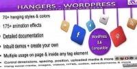 Wordpress hangers hang anywhere anything