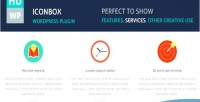 Wordpress iconbox plugin