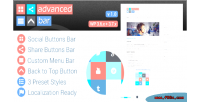 Wpadvanced bar advanced social bar menu and