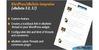 Latest vbulletin plugin wordpress threads