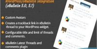 Latest vbulletin plugin wordpress threads