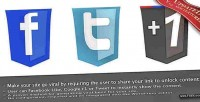 Viral lock like google 1, unlock to tweet