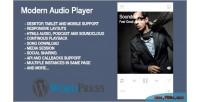 Audio modern plugin wordpress player