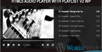 Audio player with playlist plugin wp v2