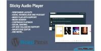 Audio sticky wordpress for player