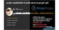 Audio waveform player with plugin wp playlist