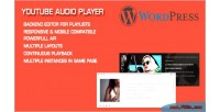 Audio youtube wordpress for player