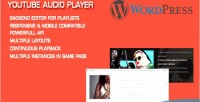 Audio youtube wordpress for player
