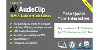 Audioclip html5 audio player plugin wordpress