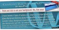 Backgrounds custom for wordpress