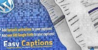 Easy wp captions fonts google with