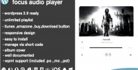 Focus audio player with plugin wp playlist
