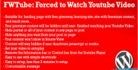 Forced to watch an video youtube embended forced