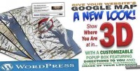 3d google map with social links feed twitter and