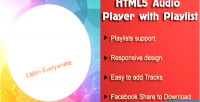 Html5 audio player with wordpress for playlist