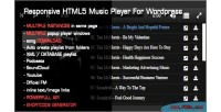 Html5 responsive music wordpress for player