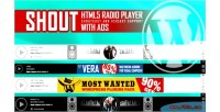 Html5 shout radio player with shoutcast ads & icecast plugin wordpress support