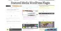Media featured wordpress plugin
