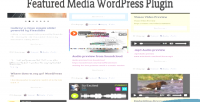Media featured wordpress plugin