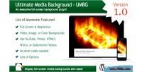 Media ultimate wordpress for background