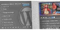 Mini music player with plugin wp playlist mini